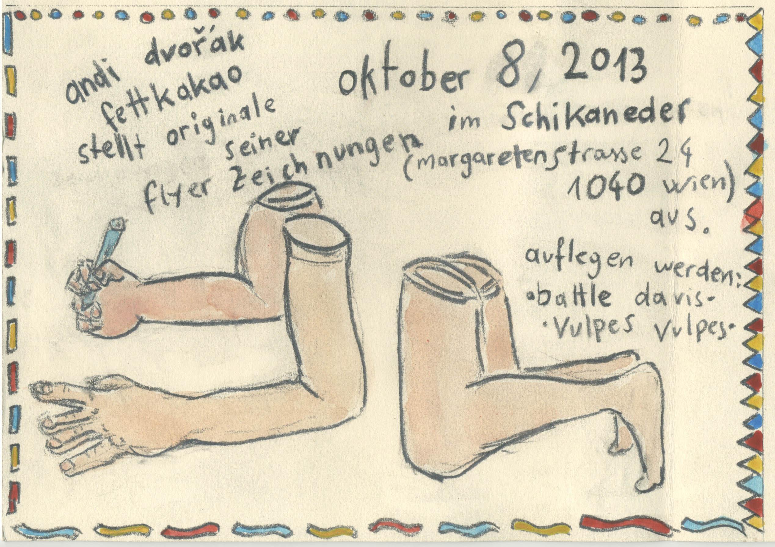Andi Dvorak exhibits originals of his show flyers