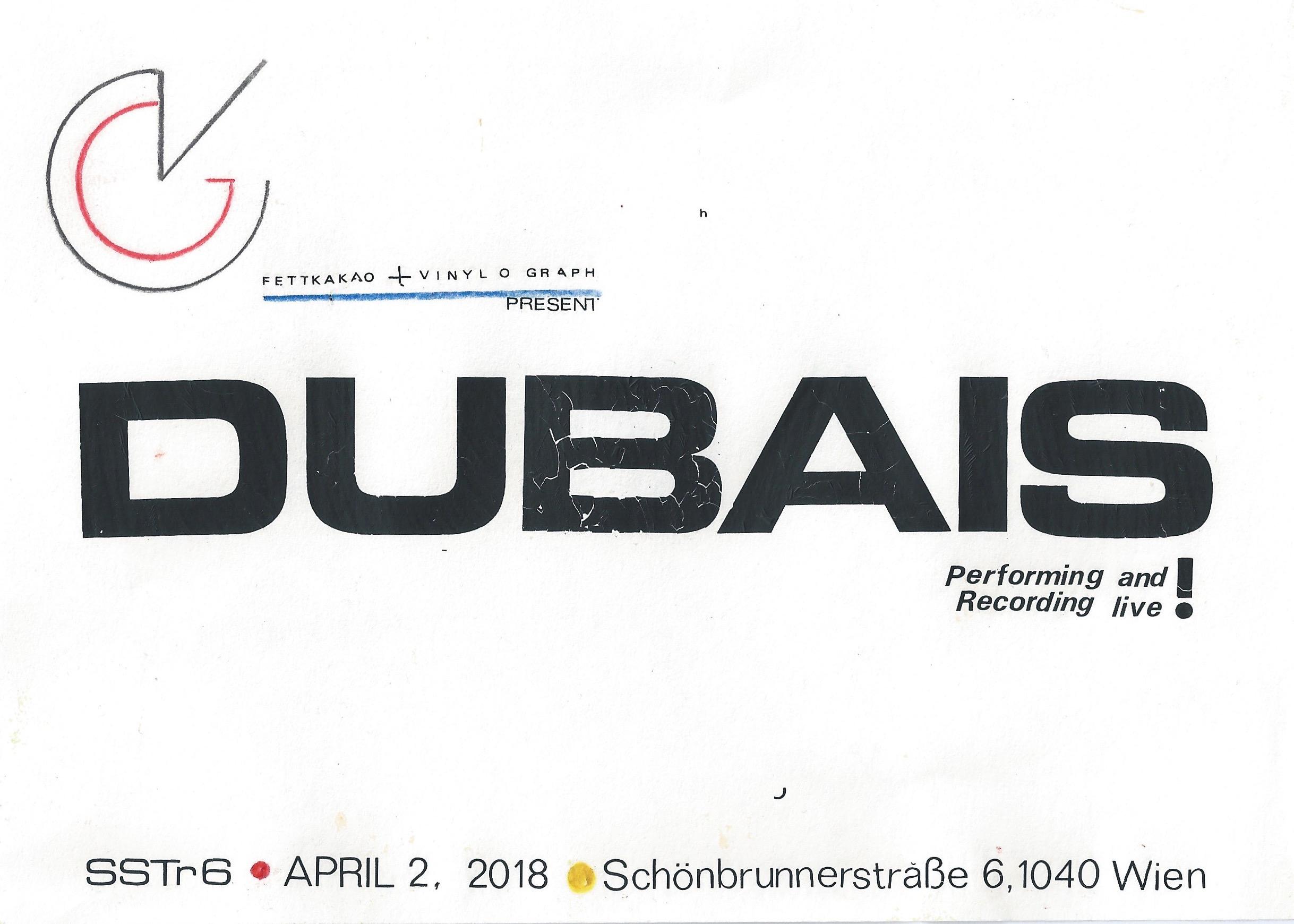 Dubais Vinylograph Live Recording